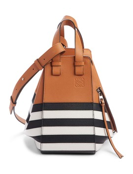Small Hammock Marine Stripe Leather Hobo by Loewe