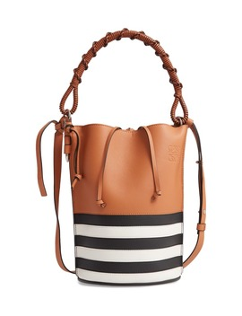 Gate Marine Calfskin Leather Bucket Bag by Loewe