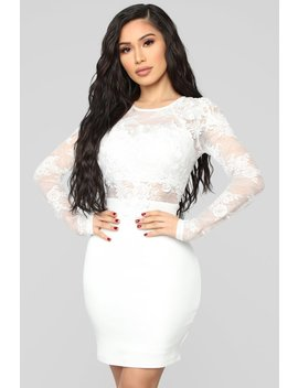 Venice Romance Dress   Ivory by Fashion Nova
