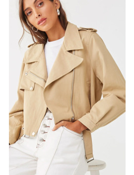 Chino Moto Jacket by Forever 21