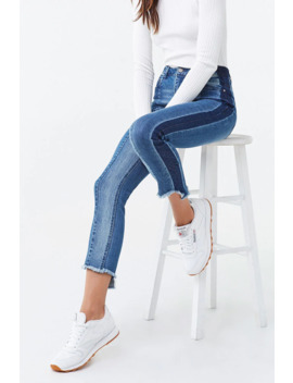 Colorblock Ankle Jeans by Forever 21