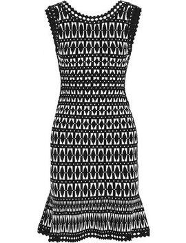Fluted Jacquard Knit Dress by HervÉ LÉger