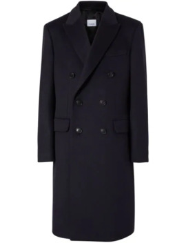 Double Breasted Tailored Coat by Burberry
