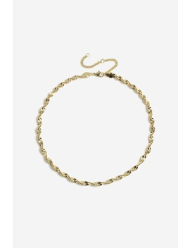 Gold Look Twist Necklace by Ginatricot