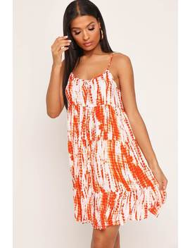 Orange Tie Dye Smock Dress by I Saw It First