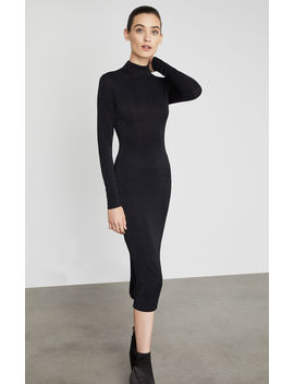 Metallic Turtleneck Sheath Dress by Bcbgmaxazria