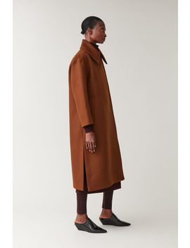 Wool Coat With Oversized Collar by Cos