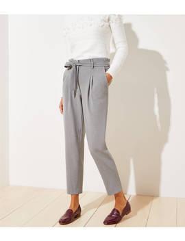 Petite Tie Waist Slim Pants by Loft