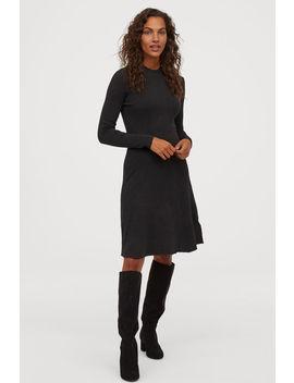 Knit Mock Turtleneck Dress by H&M