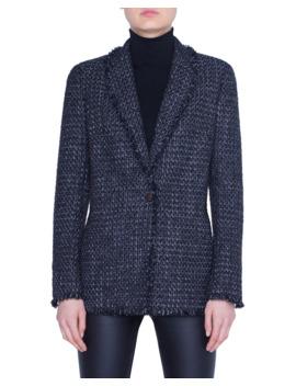 Tweed Blazer Jacket by Akris Punto