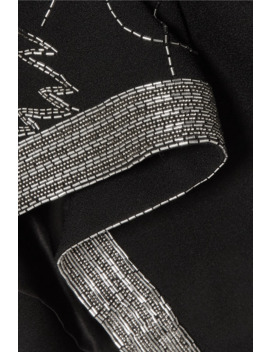 Embroidered Crepe Mini Dress by Saint Laurent