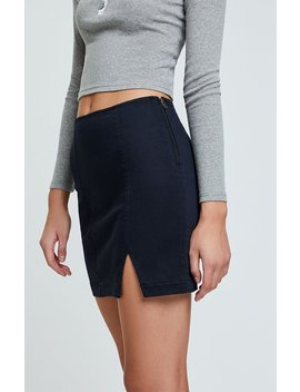 Pac Sun Slit Back Panel Skirt by Pacsun