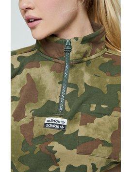 Adidas Camouflage Half Zip Sweatshirt by Pacsun