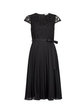 Petite Black Lace Midi Dress by Dorothy Perkins