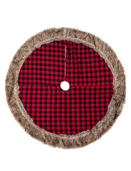 Red & Black Buffalo Check Tree Skirt by Hobby Lobby