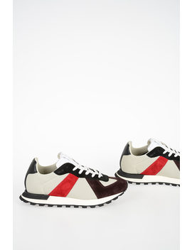 Mm22 Fabric And Leather Sneakers by Maison Margiela