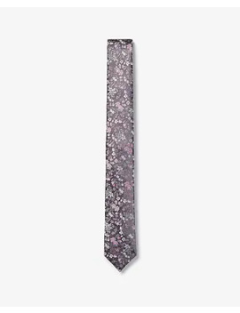 Skinny Woven Floral Tie by Express