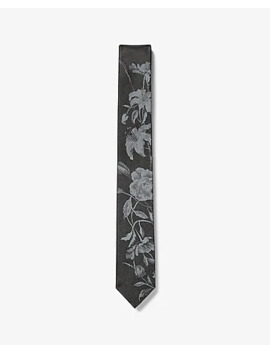 Skinny Reversible Floral Tie by Express