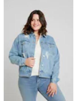 Curve Distressed Boyfriend Jacket   Spijkerjas by Missguided Plus