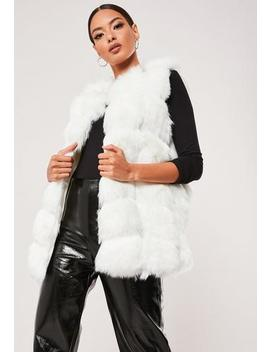 White Faux Fur Bubble Gilet by Missguided