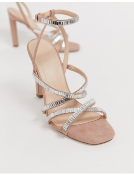 Office Hourglass Pink Diamante Strappy Heeled Sandals by Office