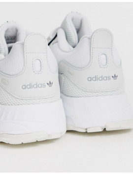 Adidas Originals Eqt Gazelle Sneakers In Triple White by Adidas Originals