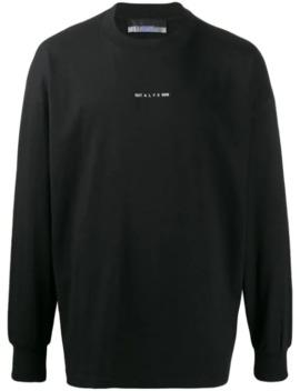 Sweatshirt Mit Logo Print by 1017 Alyx 9 Sm