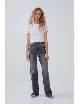 Jeans A Gamba Larga by Zara