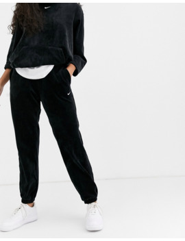 Nike Black Cord Loose Fit Joggers by Nike