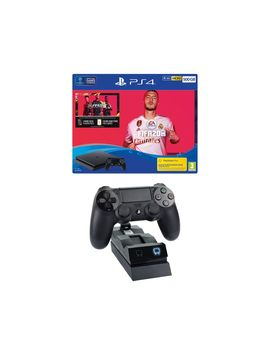 Playstation 4 With Fifa 20 & Twin Docking Station Bundle   500 Gb by Currys