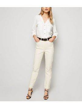 Tall Off White Waist Enhance Mom Jeans by New Look