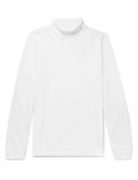 Logo Print Cotton Blend Jersey Rollneck T Shirt by Mr Porter