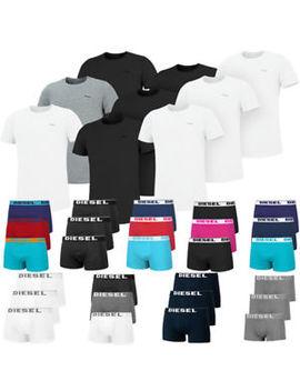 Diesel 3er Pack T Shirts Oder Boxershorts Herren Unterwäsche Baselayer Underwear by Ebay Seller