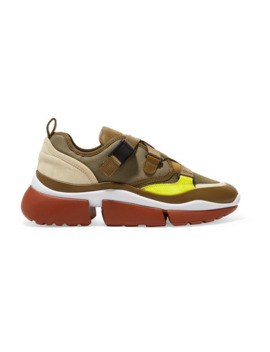 Sonnie Sneakers Aus Canvas, Mesh, Veloursleder Und Leder by Chloé