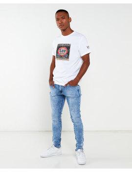 Cutty Slash Skinny Jeans Light Blue by Cutty