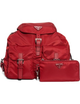 Vela Nylon Backpack by Prada