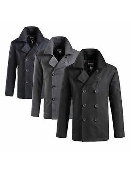 Surplus™ Pea Coat Herren Us Marine Woll Mantel Caban Colani Jacke Kurzmantel by Ebay Seller