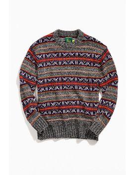 O'hanlon Mills Fair Isle Crew Neck Sweater by O'hanlon Mills