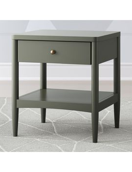 Kids Hampshire Olive Green Nightstand by Crate&Barrel