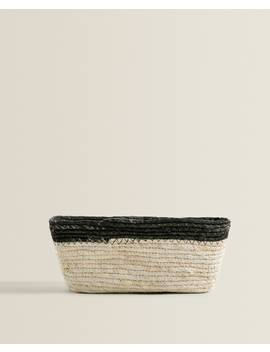 Black Border Maize Basket Baskets And Furniture   Bathroom by Zara Home