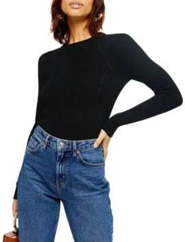 Tall Ribbed Crew Sweater by Topshop