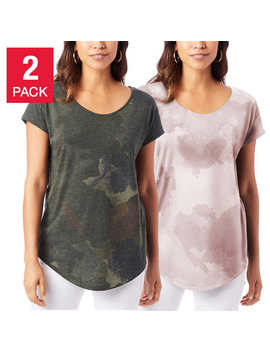 Alternative Apparel Ladies' Short Sleeve Tee, 2 Pack by Alternative Apparel