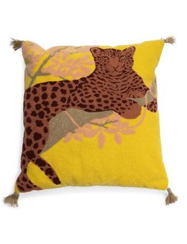 """Leopard Boucle Embroidered Decorative Throw Pillow, 20x20"""" By Drew Barrymore Flower Home by Drew Barrymore Flower Home"""