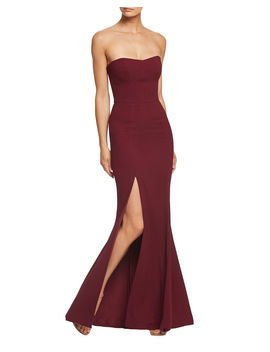 Ellen Strapless Gown With Thigh Slit by Dress The Population