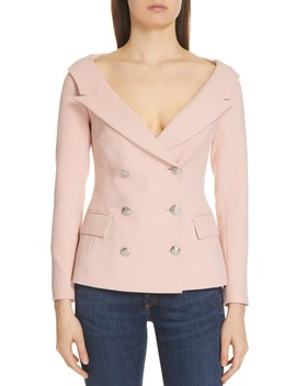 Frayne Double Breasted Blazer Jacket by Veronica Beard