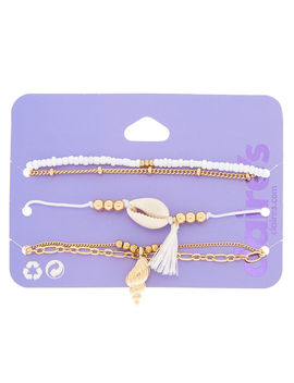 Gold Cowrie Shell Bracelets   5 Pack by Claire's
