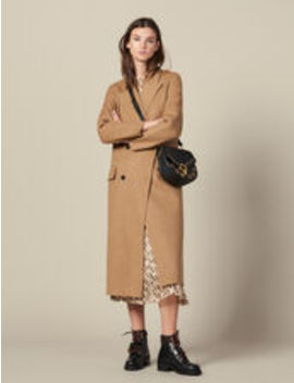 Long Double Faced Wool Coat by Sandro Eshop