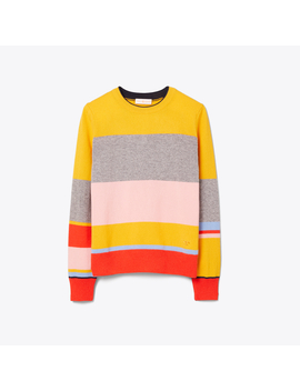 Color Block Cashmere Pullover by Tory Burch
