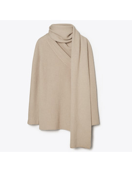 Cashmere Blend Convertible Wrap Sweater by Tory Burch