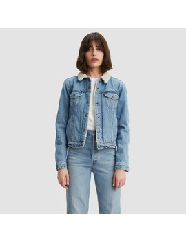 Levi's® Women's Original Sherpa Trucker Jacket   Divided Blue by Levi's